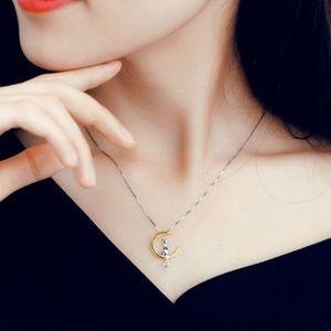 3/$30 Cat Moon Zinc Alloy Pendant Necklace